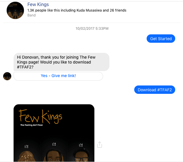 Music delivery facebook messenger