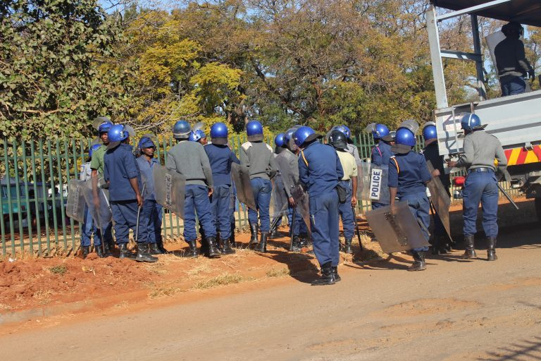 Anti-Riot Police Seal South African embassy