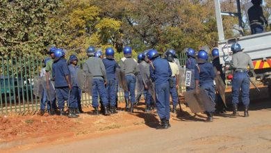Photo of Anti-Riot Police Seal South African embassy