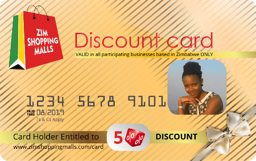ZimShoppingMalls VIP Discount Card 2018-19 gold