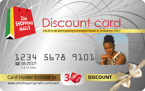 ZimShoppingMalls VIP Discount Card 2018-19 silver