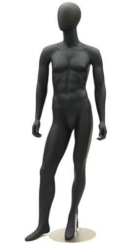Egghead Male Mannequin in Black Matte