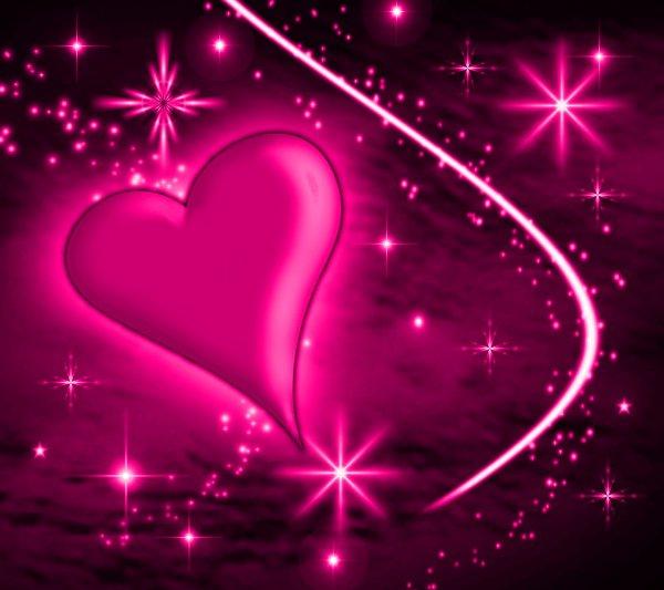 Neon Rainbow Glitter Hearts Wallpaper