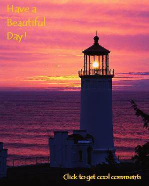 Lighthouse Photo Glitter Graphic Greeting Comment Meme