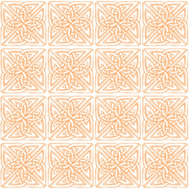 Cute Orange Kittens Wallpaper Peach Colored Celtic Squares Seamless Background Pattern