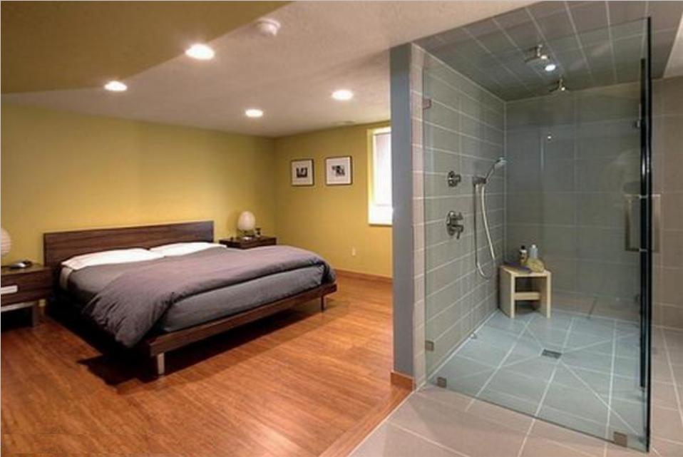 Bedroom with Bathroom Design Ideas Bedroom and Bathroom