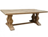 Dining Table: Salvaged Trestle Dining Table