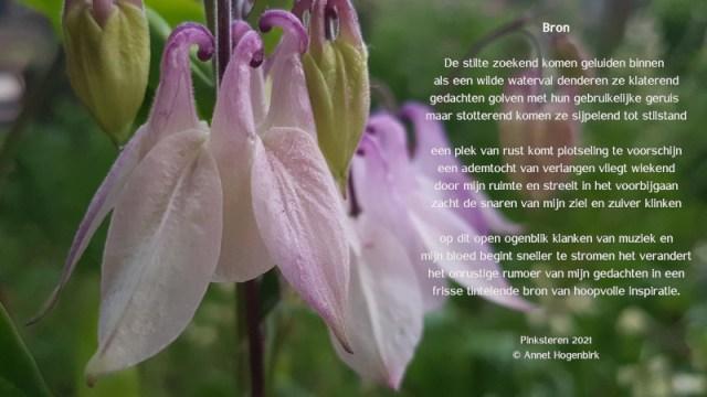 Bron, gedicht geschreven bij Pinksteren. Inspiratie vinden in de stilte. Tot rust komen.