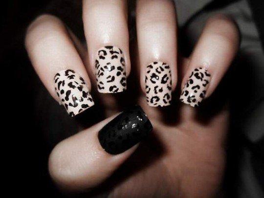 Leopard-print-nails-540x405 Manikiūras 2013 metais!