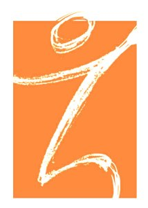 The logo for ZinnHouse of a Z that shows both a figure looking down and inward to the left for interspiritual growth, and up and outward to the right for evolutionary change.