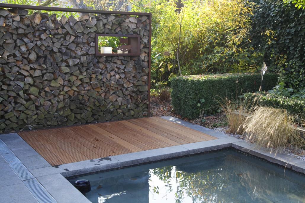 Holz Garten Modern Ideen Wasser Bruecke Moderne Gartengestaltung,  Gartenarbeit Ideen