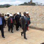Ministera and government officials touring Mtshabezi Pipeline works (5)