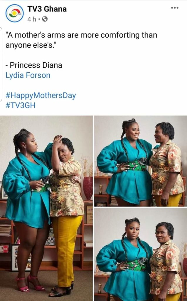 Lydia Forson Curses Social Media User For Saying Her Mother Does Not Deserve To Be Celebrated On Mother's Day 2