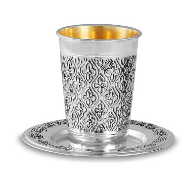 Sterling silver Jewish artifacts as Kiddush Wine cup
