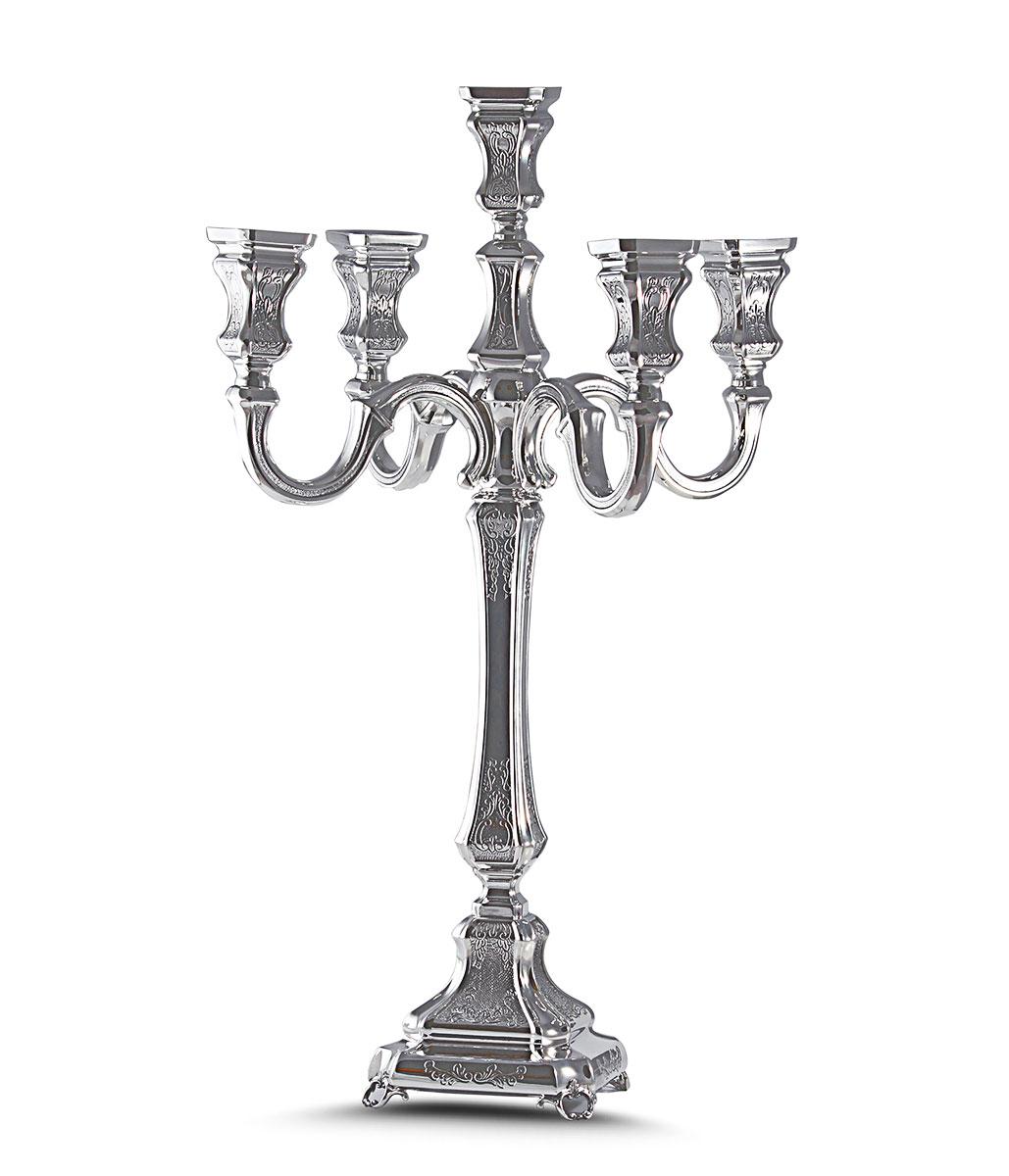 Sterling Silver Candelabra For Shabbat Or Jewish Holidays