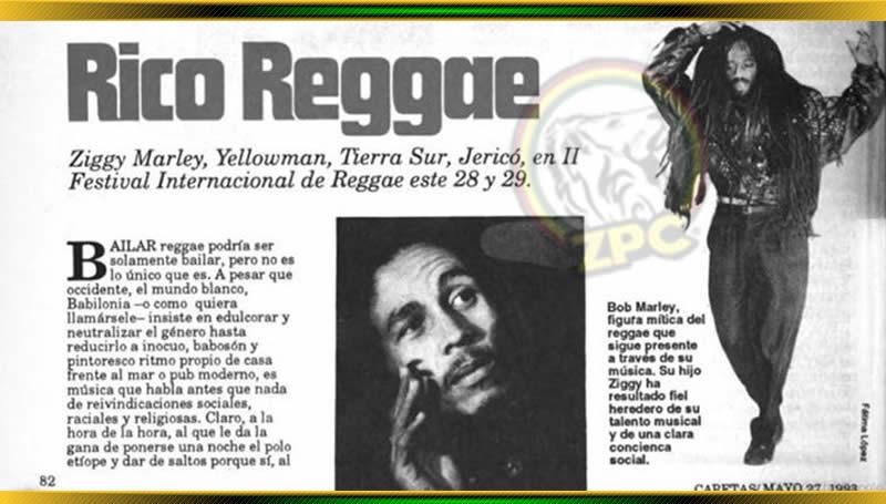 ZIGGY MARLEY EN LIMA, parte de la historia del reggae peruano