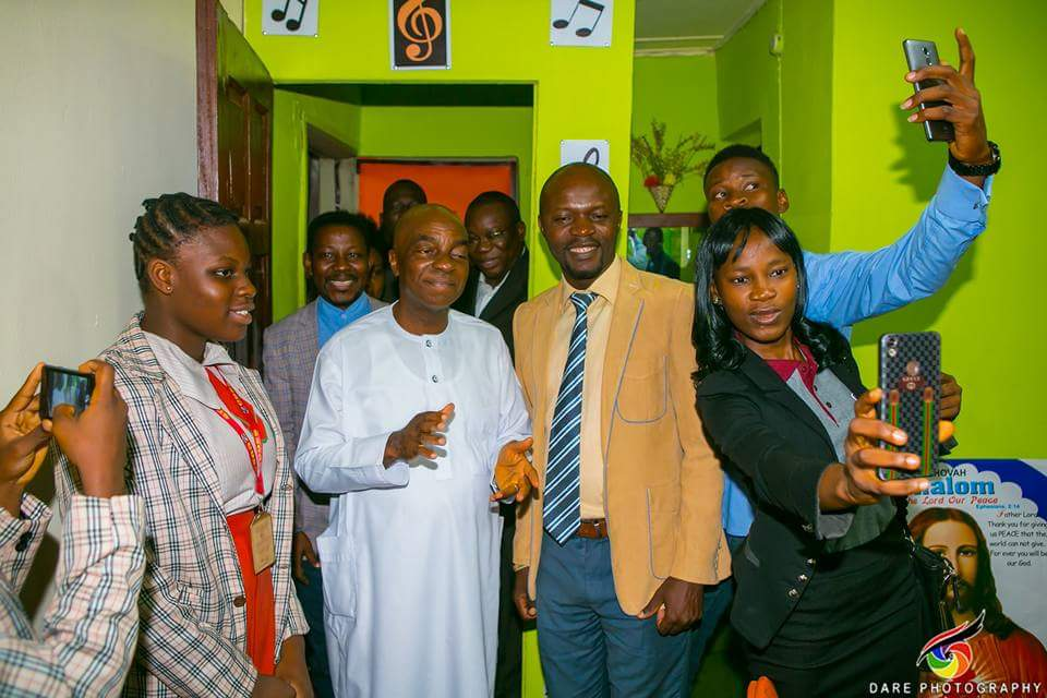 Bishop David Oyedepo dedicates studio for his member (Tolu-Bolaji Dan)