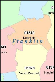 FRANKLIN County Massachusetts Digital ZIP Code Map