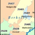 Martinsburg west virginia wv zip code map downloads