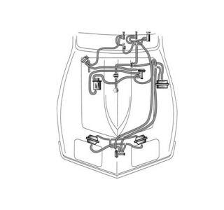 C3 Corvette Headlight & Wiper Door Vacuum Hoses (1968-1982)