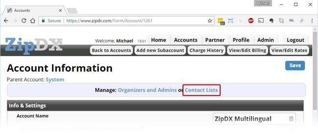 Accounts-Contact-Lists