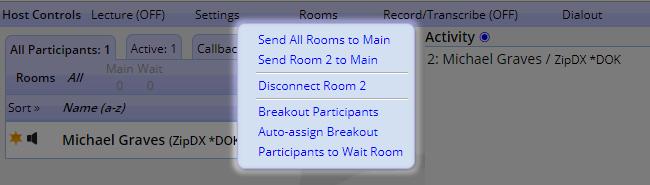 Host Controls - Rooms