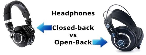 Open-back vs Closed-back headphones