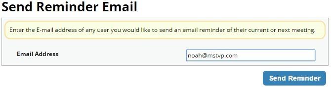 Send Reminder Email