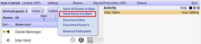 Send Room X To Main