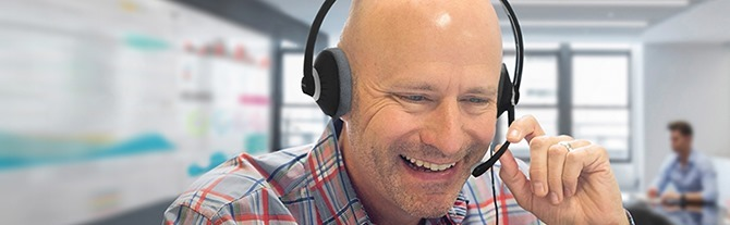 koss CS300 headset on a guy