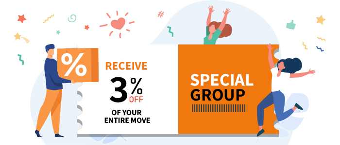 3 percent discount special group