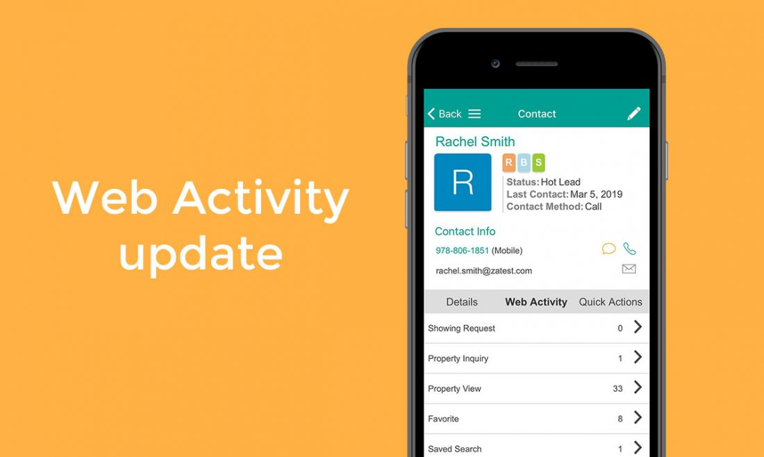 Web Activity Mobile App Real Estate