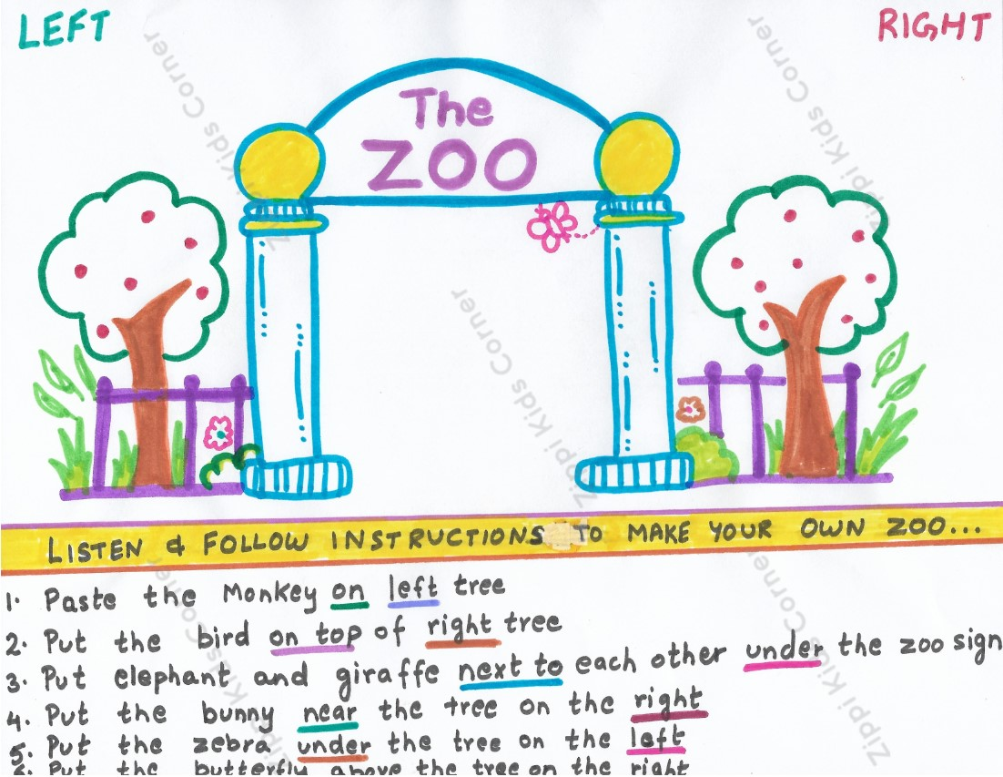 Cut And Paste Prepositions Activity Worksheets