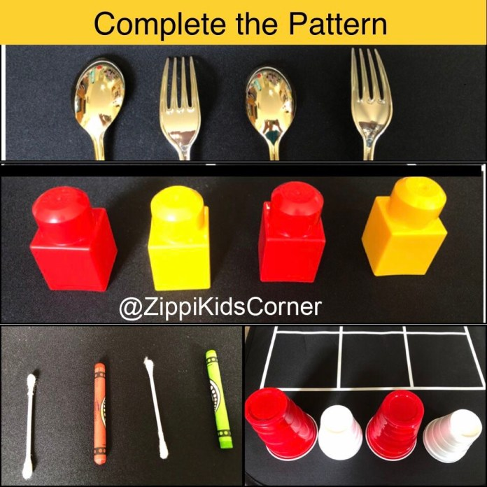Learning patterns practically  for toddlers
