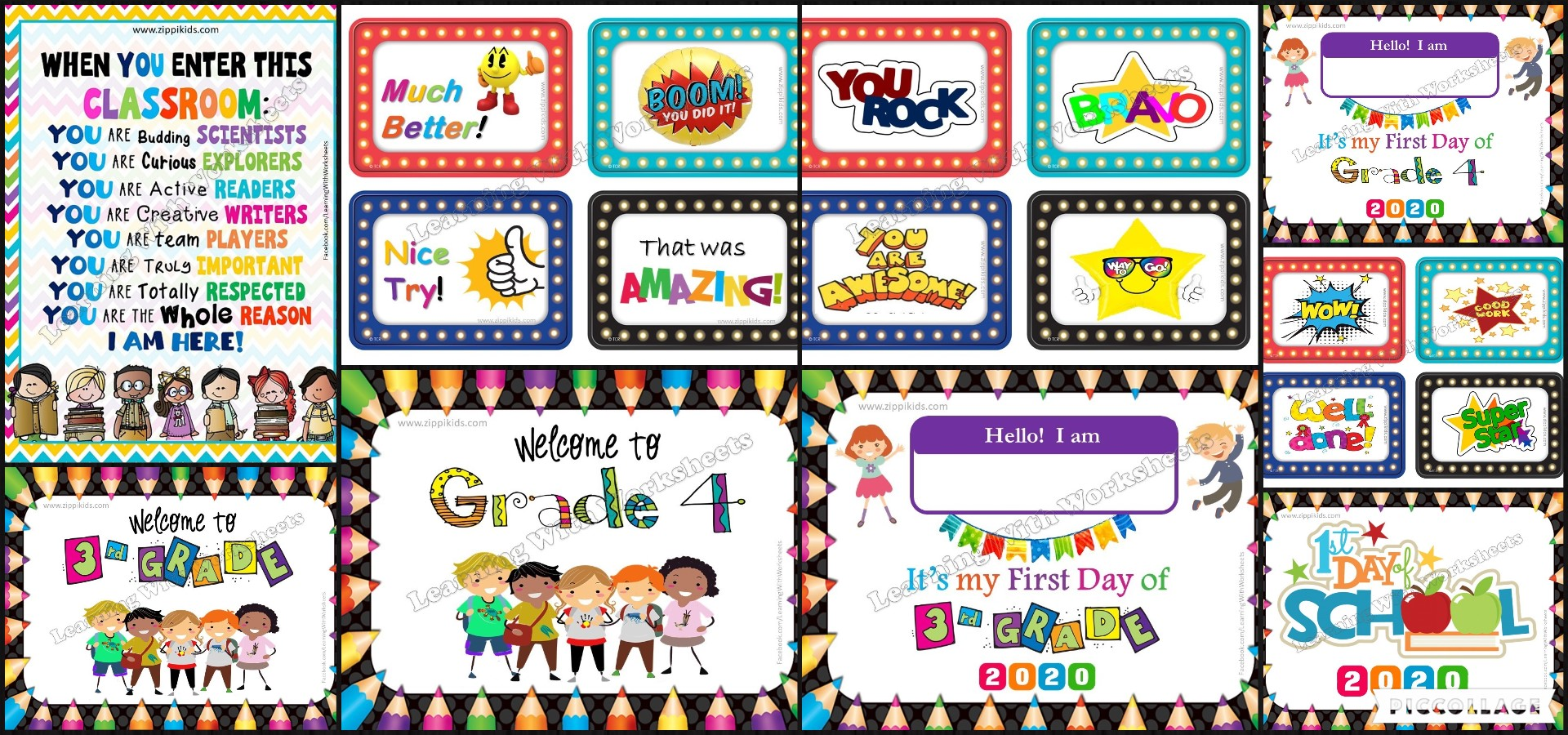 Welcome to 3rd and 4th Grade Bundle - 2020 - Zippi Kids - Teacher Resources [ 900 x 1920 Pixel ]