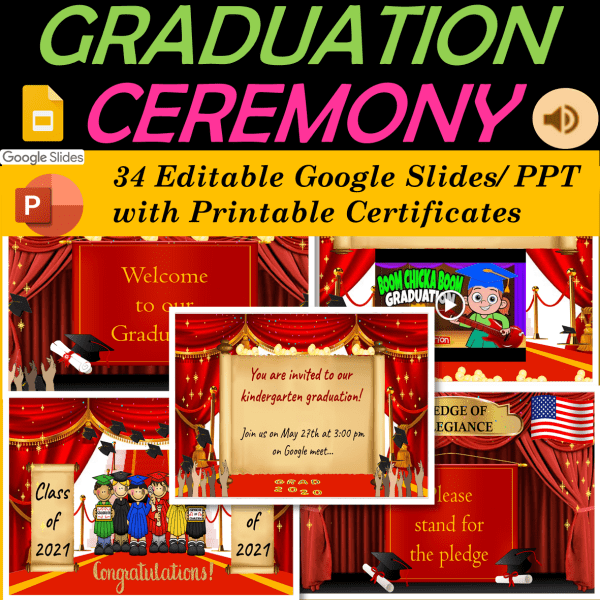 Graduation Ceremony for Preschool, Kindergarten, Elementary school