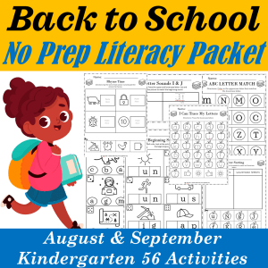 Back to School Literacy Packet