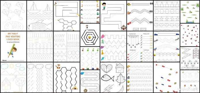 Pre-writing Lines Worksheets