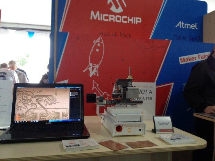 Prometheus PCB mill at Maker Faire. Sixth prototype (production version).