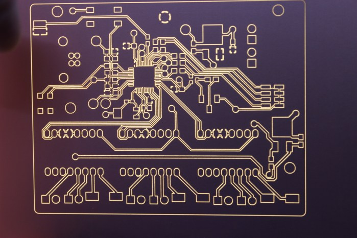 The Prometheus PCB Being Back-lit, Made With Prometheus