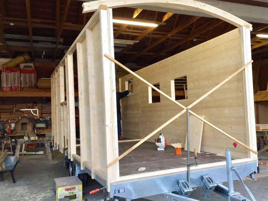 Tiny Houses bauen  mobiler Anhnger Hausbau