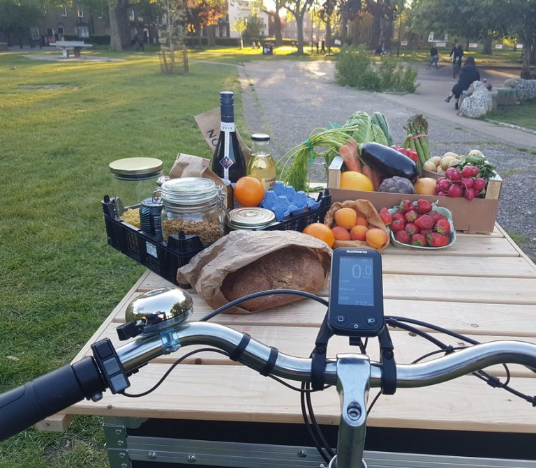 Zirro products on cargo Bike