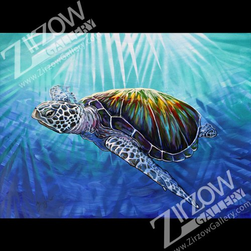 Tropical Sea Turtle Original Art