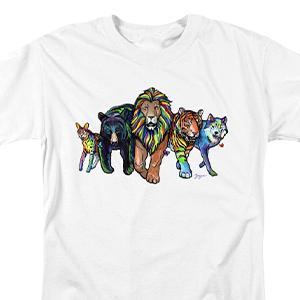 Rainbow Animals Tee Shirt