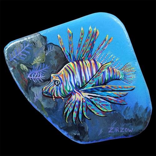 Lionfish Ocean-Life Rock