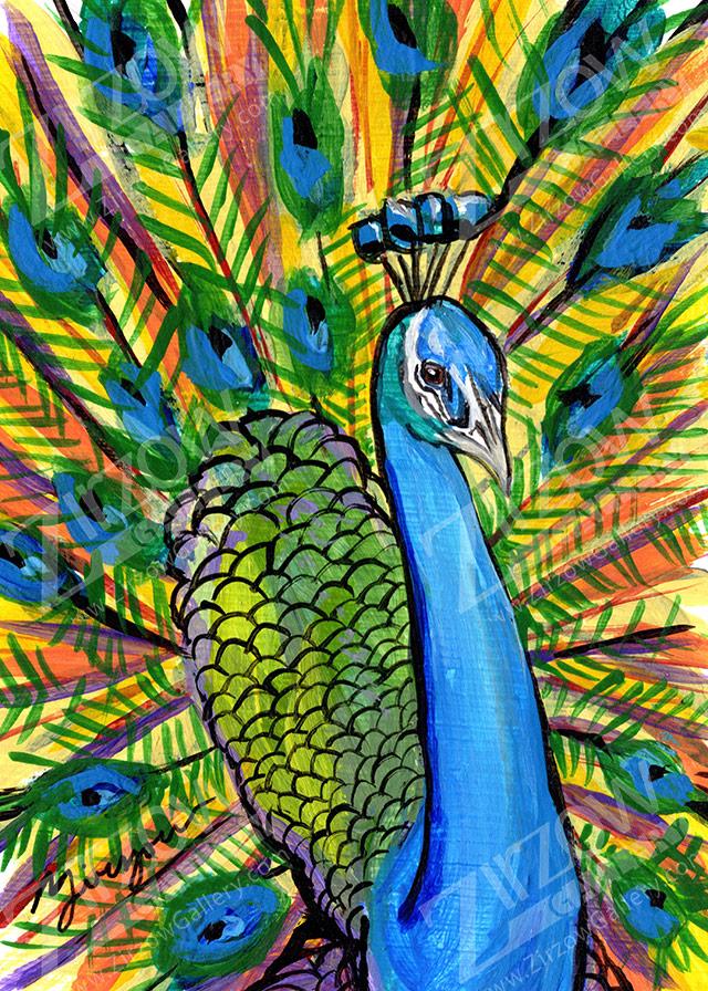 Peacock Miniature Masterpiece