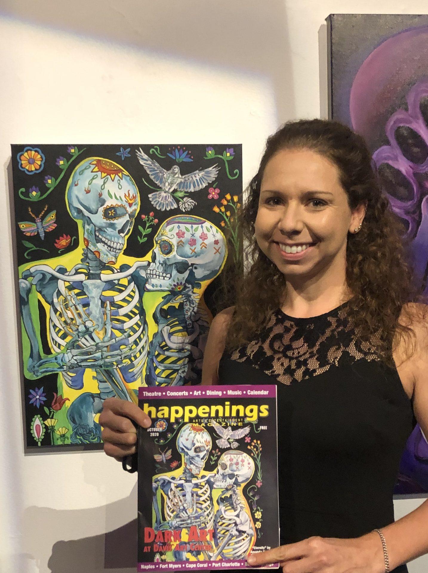 Amanda Zirzow with Eternity Original Painting and Magazine Cover