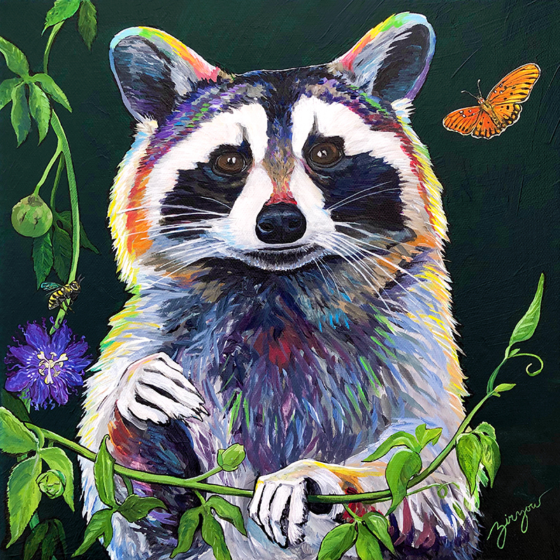 The Raccoon and the Honey Bee