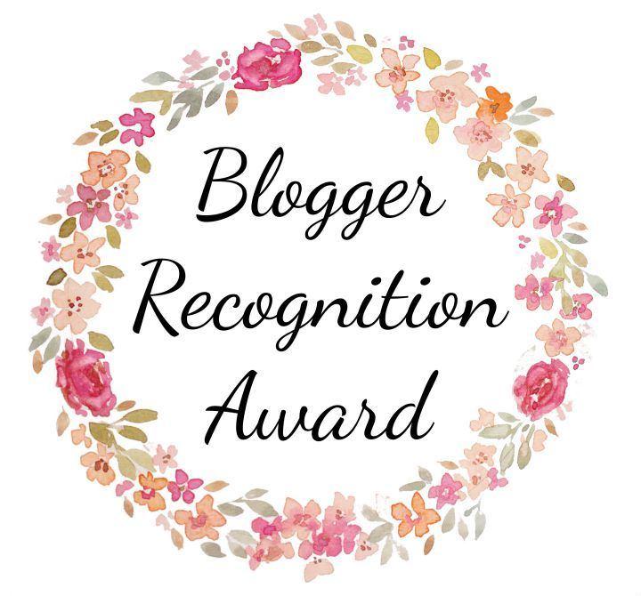 Received The Blogger Recognition Award