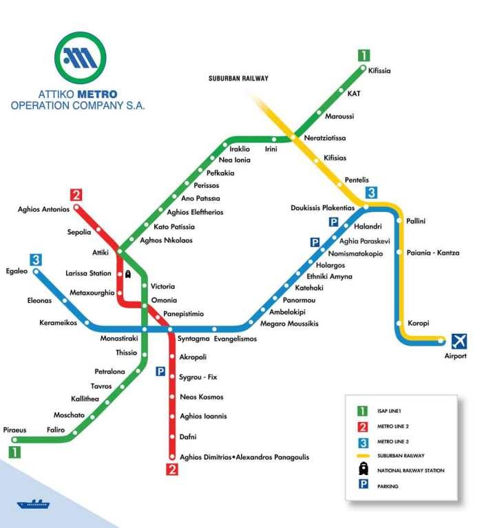 Kaart-metro-Athene